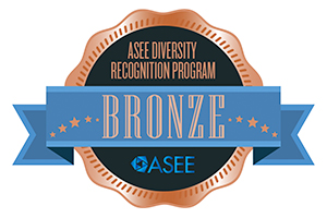ASEE Diversity Recognition Program Bronze award badge
