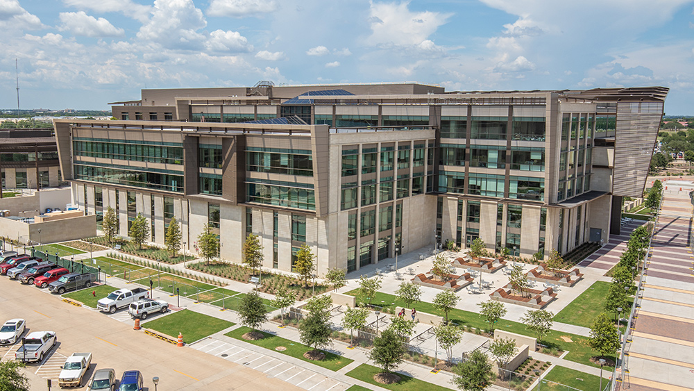 Arial shot of Zachry Engineering Education Complex