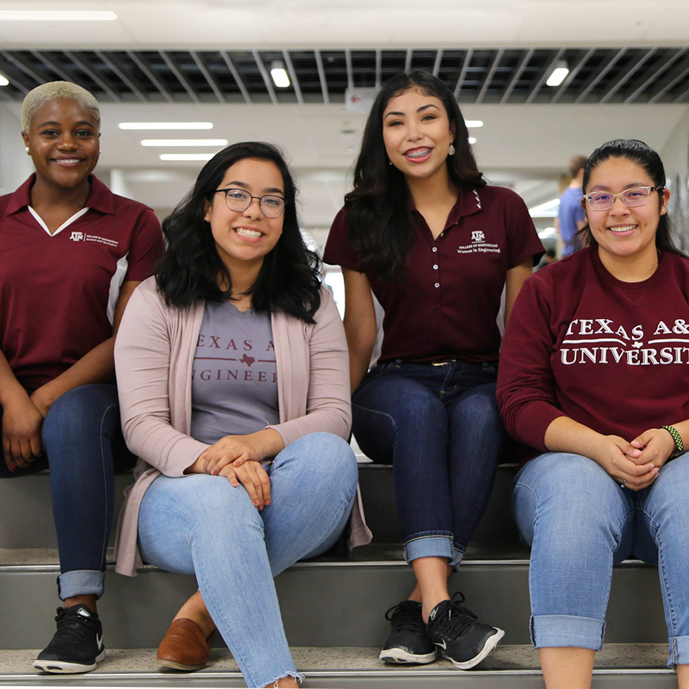 group of diverse Aggie women engineers