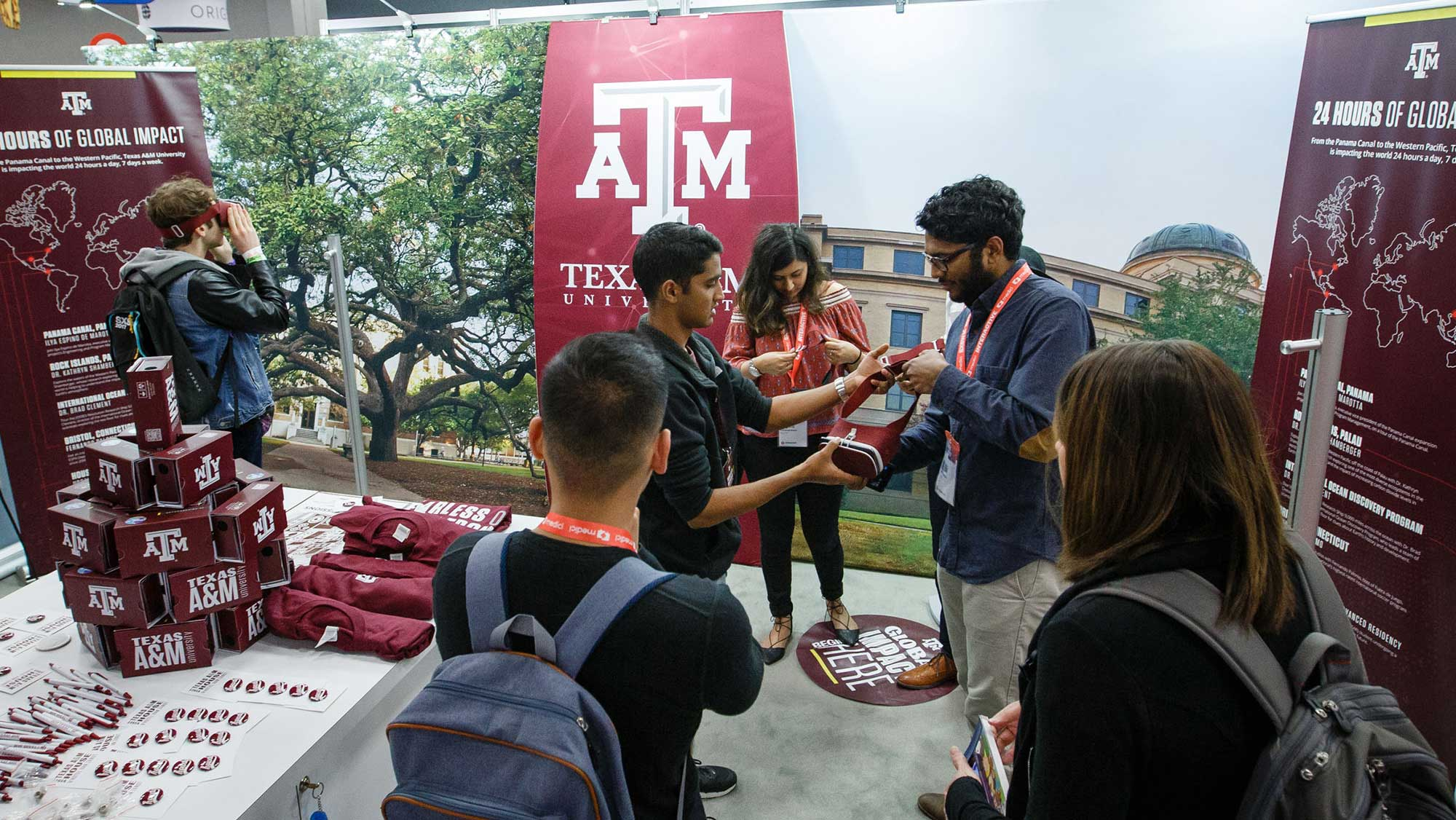 students engage a public audience at Texas A&M Engineering SXSW booth