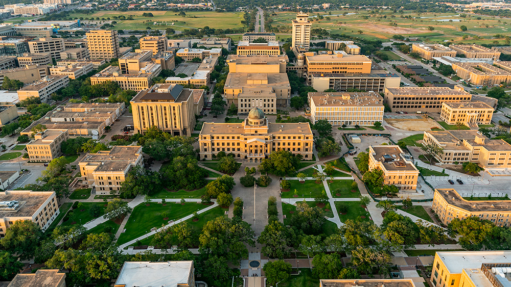 Aerial image of Texas A&M Campus.