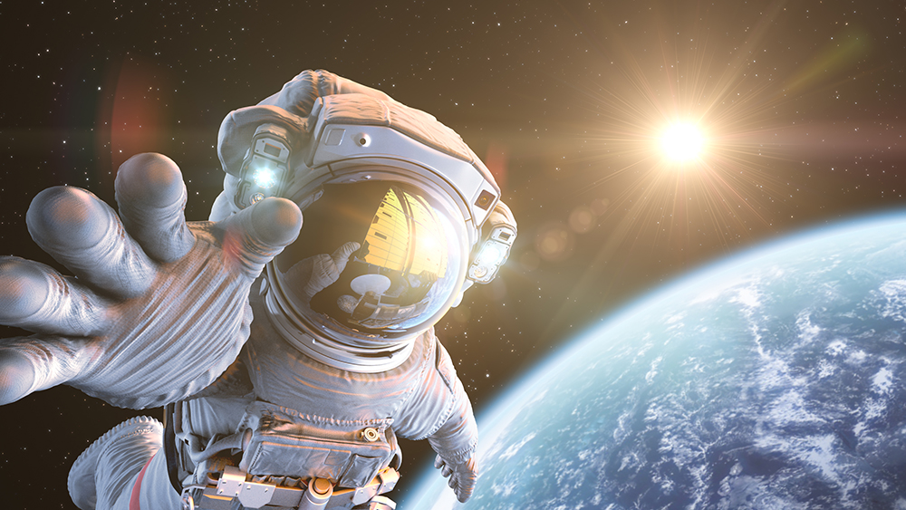 Stock photo of astronaut in space