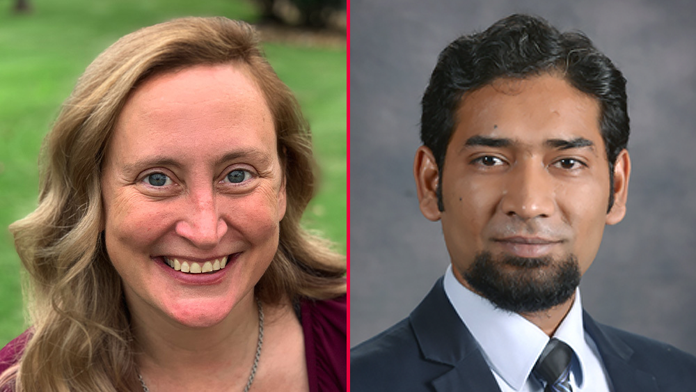 Individual photos of Dr. Tracy Hammond and Dr. Vinayak Krishnamurthy put side by side. Both are smiling at the camera.