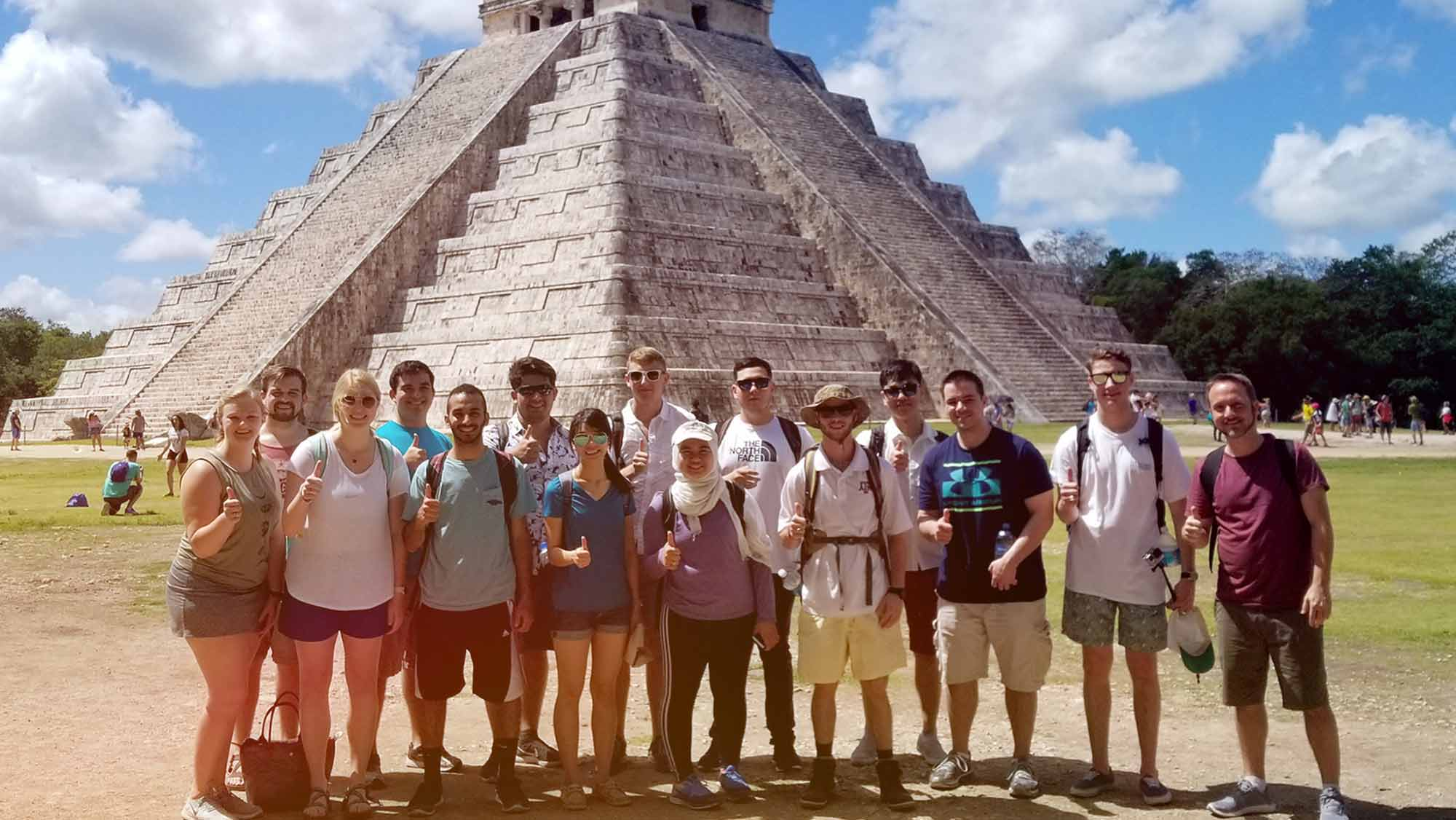 study abroad student group in South America